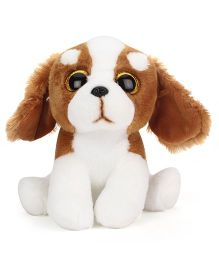 Keel Sparkle Eye Puppy Soft Toy White Brown - 25 cm