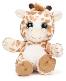 Keel Sparkle Animal Giraffe Soft Toy White Brown - 20 cm
