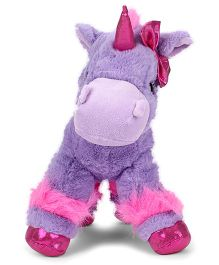 Keel Glitter Gems Unicorn Soft Toy Lavender - Height 30 cm
