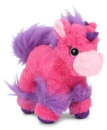 Keel Glitter Gems Unicorn Soft Toy Dark Pink - Height 18 cm