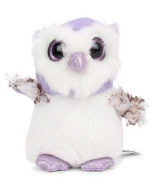 Keel Sparkle Eye Pal Soft Toy Owl White - 14 cm