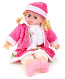 Smiles Creation Doll In Jacket With Heart Print Pink - 54 cm