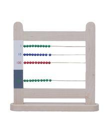 Eduedge Montessori Material Arithmetic Small Bead Frame - Multicolor