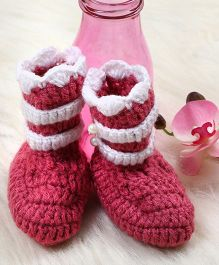 The Original Knit Booties - Pink