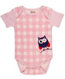 Pranava Envelop Neck Bodysuit - Pink