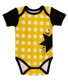 Pranava Envelop Neck Bodysuit - Yellow & Black