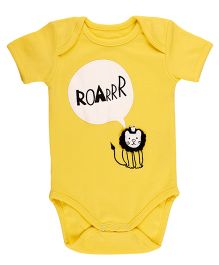 Pranava Envelop Neck Bodysuit - Yellow