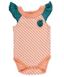 Pranava Bodysuit With Yoke - Orange