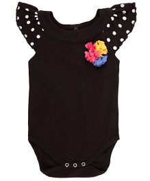 Pranava Bodysuit With Yoke - Black