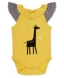 Pranava Bodysuit With Yoke - Yellow