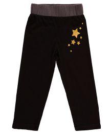 Pranava Star Print Unisex Pant - Black
