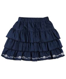 Pranava Denim Skirt - Navy Blue