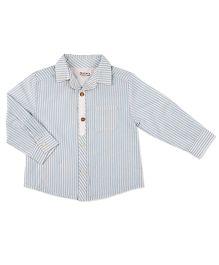 Pranava Long Sleeve Shirt With Placket - Blue