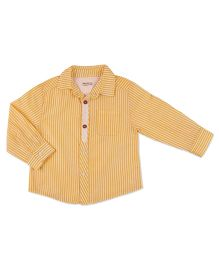 Pranava Long Sleeve Shirt With Placket - Orange