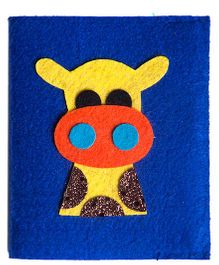 Li'll Pumpkins Giraffe Small Diary - Blue