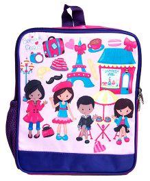 Li'll Pumpkins Paris Backpack - Blue