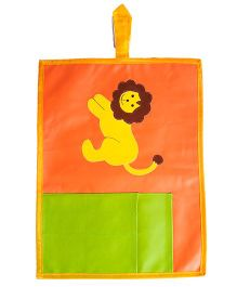 Li'll Pumpkins Lion Pocket Table Mat - Orange & Green