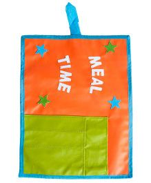 Li'll Pumpkins Meal Time Pocket Table Mat - Orange & Green