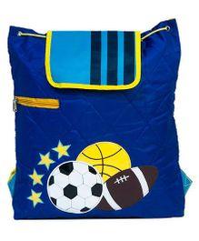 Li'll Pumpkins Quilted Football Back Pack - Blue