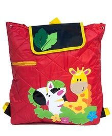 Li'll Pumpkins Quilted Jungle Backpack - Red