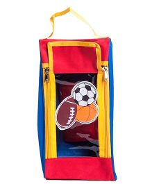 Li'll Pumpkins Football Shoe Pouch - Red
