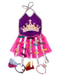 Li'll Pumpkins Crown Clip Organiser - Pink & Violet