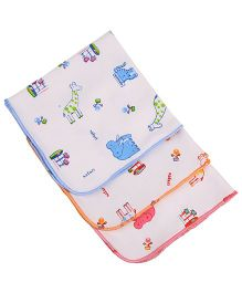 MomToBe Safari Print Napkins Pack Of 3 - White Orange Blue Pink