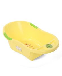 Baby Musical Bath Tub With Drainer - Yellow
