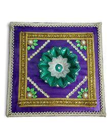 Creative Hand Diwali Wooden Terracotta Fancy Diya Plater - Multicolor