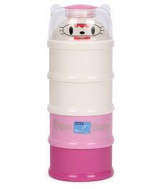 4 Layered Milk Powder Container - Cream & Pink