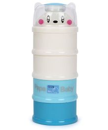 4 Layered Milk Powder Container - Cream & Blue