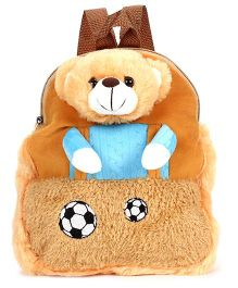 Starwalk Soccer Bear Plush Toy Bag - Brown