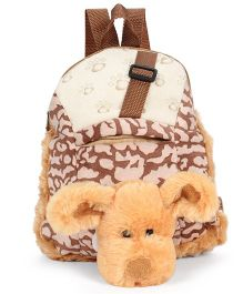 Starwalk Puppy Face Plush Toy Bag Brown - 10 inches