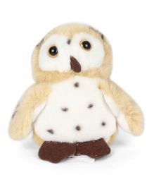 Wild Republic Plush Owl Soft Toy Light Yellow - 12 cm