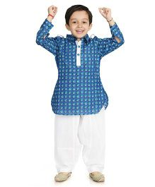 Little Pocket Store Pathani Set - Blue