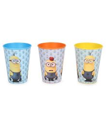 Minions Drinking Tumbler Set Of 3 - Blue & Yellow