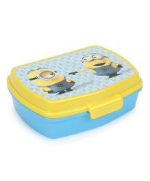 Minions Sandwich Lunch Box - Blue & Yellow