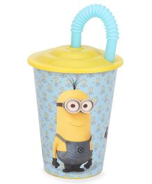Minions Juicy Tumbler Yellow And Blue - 430 ml