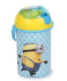 Minions Pop Up Water Bottle - Blue Yellow