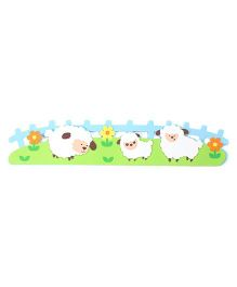 Flower And Sheep Wall Stickers - Multicolor