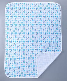Bachha Essential Baby Blanket Tricycle Print - Blue