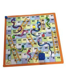 Cutez Snakes And Ladders Board Game - Multicolor