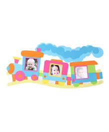 Photo Frame Railway Design Wall Stickers - Multicolor