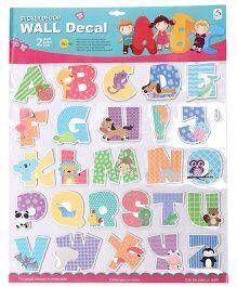 Alphabets Wall Sticker - Multicolor