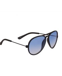 Spiky Classic Aviator Kids Sunglasses - Black & Blue