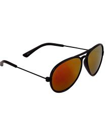Spiky Classic Aviator Kids Sunglasses - Black & Red