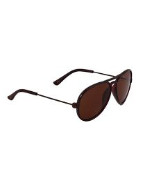 Spiky Classic Aviator Kids Sunglasses - Brown