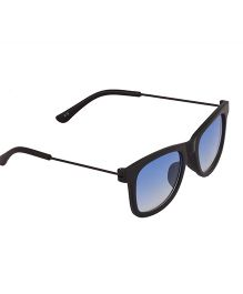 Spiky Classic Wayfarer Kids Sunglasses - Black & Blue