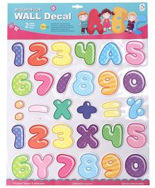 Numbers Wall Stickers - Multicolor