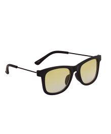 Spiky Classic Wayfarer Kids Sunglasses - Black & Yellow